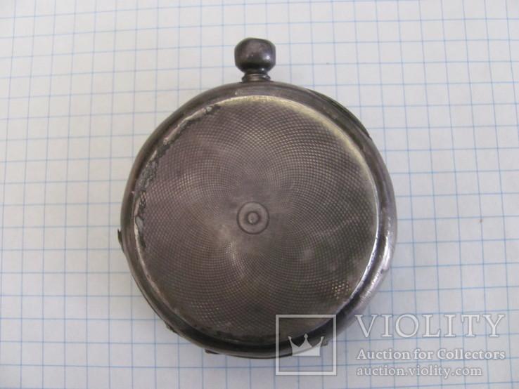 Серебряный корпус часов J.F.Boutte с тремя крышками, фото №4
