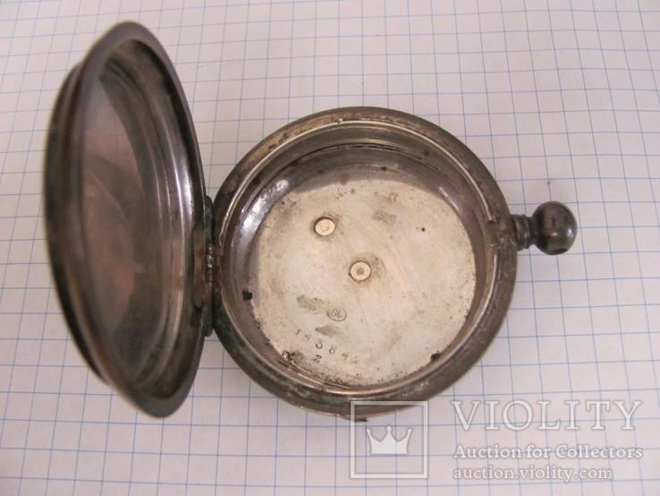 Серебряный корпус часов J.F.Boutte с тремя крышками, фото №5