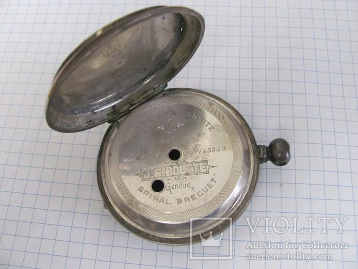 Серебряный корпус часов J.F.Boutte с тремя крышками, фото №2