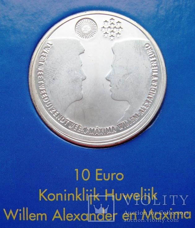 """Нидерланды, 10 евро 2002 """"Свадьба"""" в официальной упаковке IMPORTA, фото №4"""