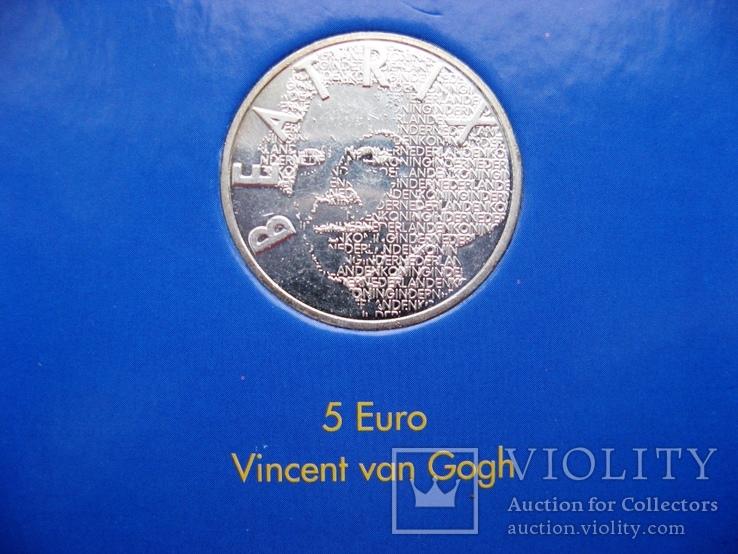 """Нидерланды, 5 серебряных евро 2003 """"Ван Гог"""" в официальной упаковке IMPORTA, фото №5"""