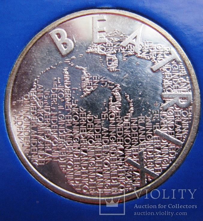 """Нидерланды, 5 серебряных евро 2003 """"Ван Гог"""" в официальной упаковке IMPORTA, фото №6"""