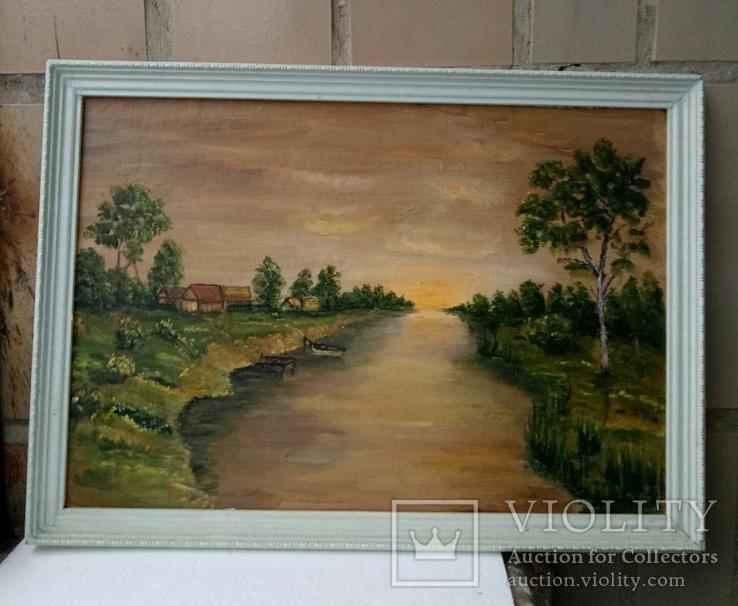 Картина «Закат солнца»  1989 г.