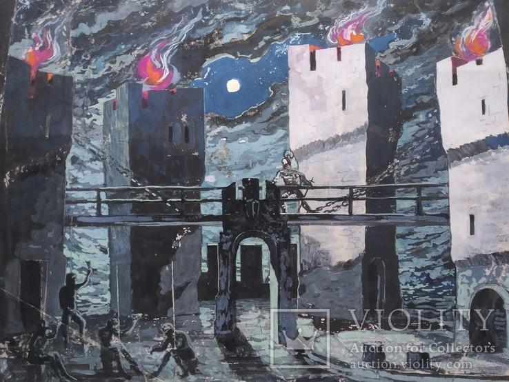 """""""Гамлет""""сценография, б.гуашь, Мартин Вигдор Кордонский, фото №4"""
