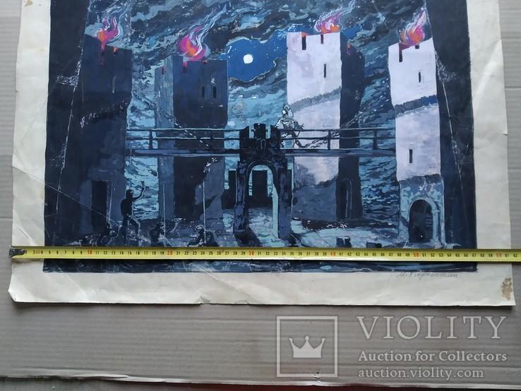 """""""Гамлет""""сценография, б.гуашь, Мартин Вигдор Кордонский, фото №10"""