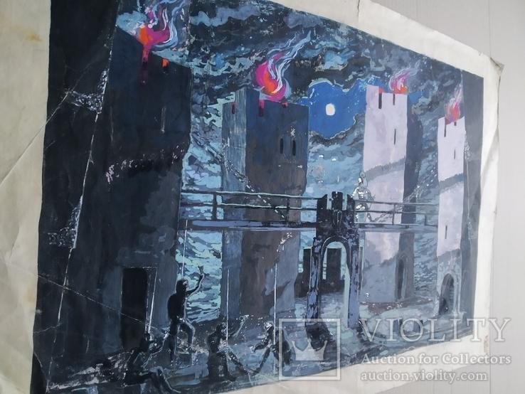 """""""Гамлет""""сценография, б.гуашь, Мартин Вигдор Кордонский, фото №12"""