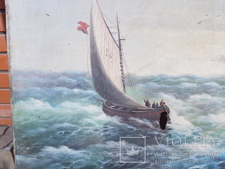 Картина Морской пейзаж автор Писоттин, фото №4