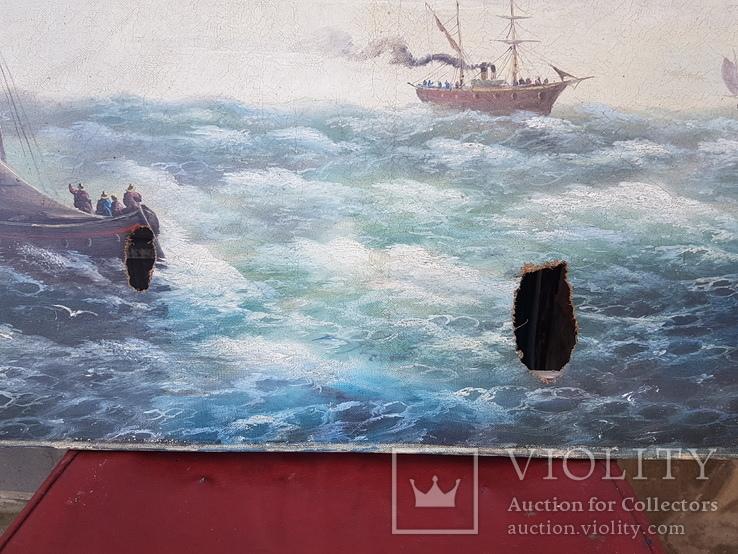 Картина Морской пейзаж автор Писоттин, фото №7