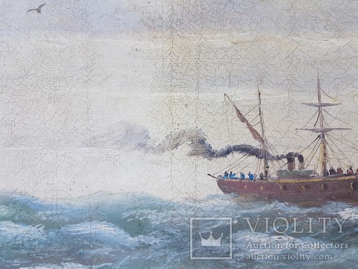 Картина Морской пейзаж автор Писоттин, фото №9