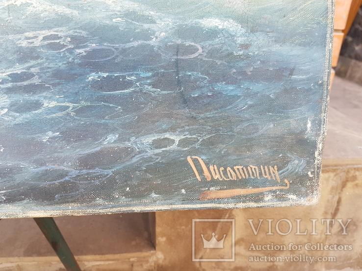 Картина Морской пейзаж автор Писоттин, фото №10
