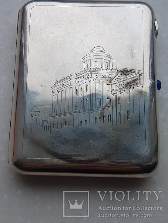 Портсигар СССР серебро 875*, фото №3