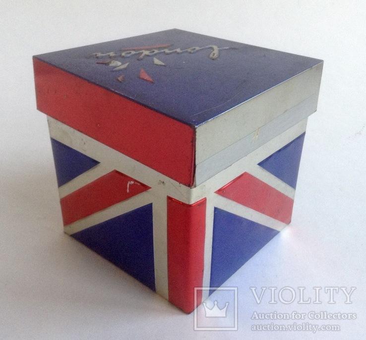 Коробка от чая LONDON.  Металл, жесть., фото №5
