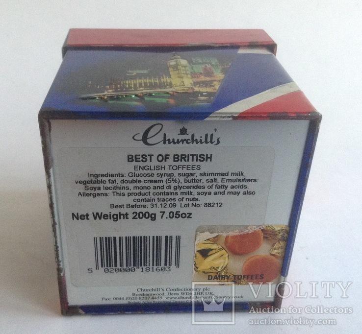 Коробка от чая LONDON.  Металл, жесть., фото №9