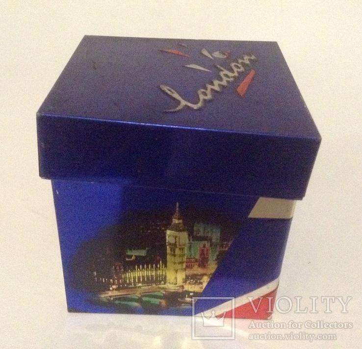 Коробка от чая LONDON.  Металл, жесть., фото №10