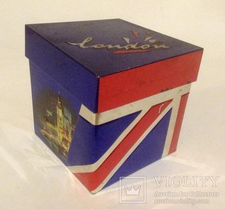 Коробка от чая LONDON.  Металл, жесть., фото №11