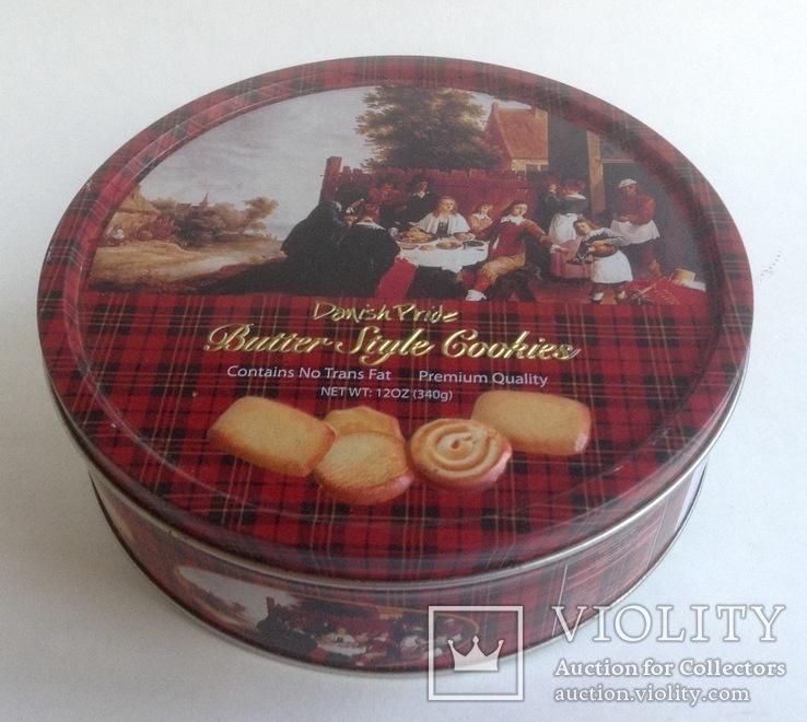 Коробка от печенья Трапеза. Металл, жесть., фото №2