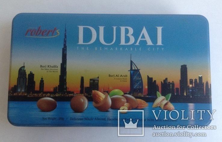 Коробка от конфет Дубай. Металл, жесть., фото №2