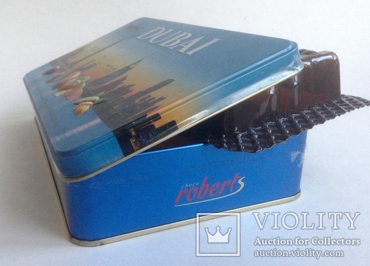 Коробка от конфет Дубай. Металл, жесть., фото №8