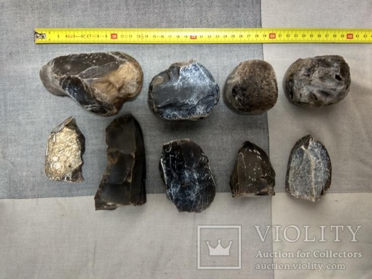 Нуклеуси та камені за допомогою яких робили кремнієві знаряддя праці, фото №4