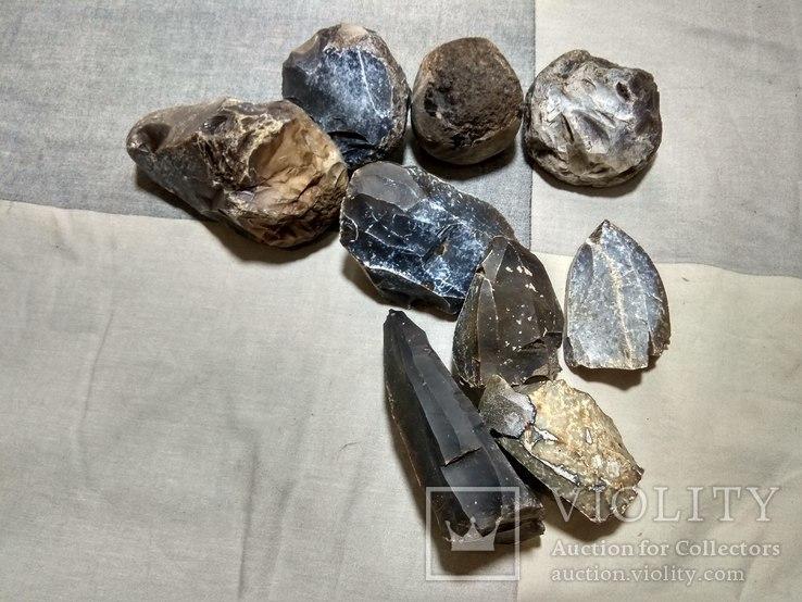 Нуклеуси та камені за допомогою яких робили кремнієві знаряддя праці, фото №5