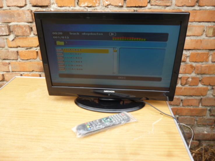 Телевізор MEDION LCD-TV 21.5 дюйм USB + DVD   з Німеччини, фото №2