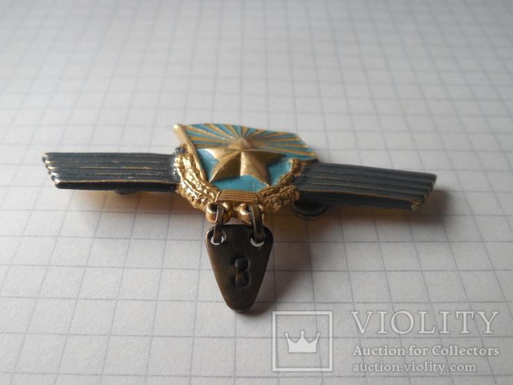 Знак сверхсрочно служащий СССР Авиация, фото №3