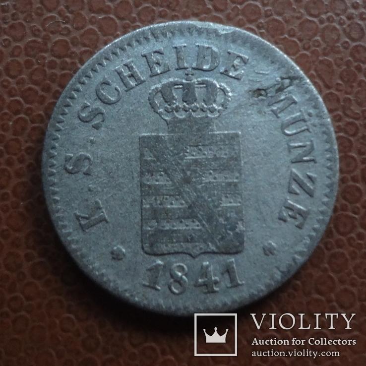 1 ньюгрошен 10 пфеннигов 1841 G Саксен-Альбертин серебро (М.1.22), фото №2