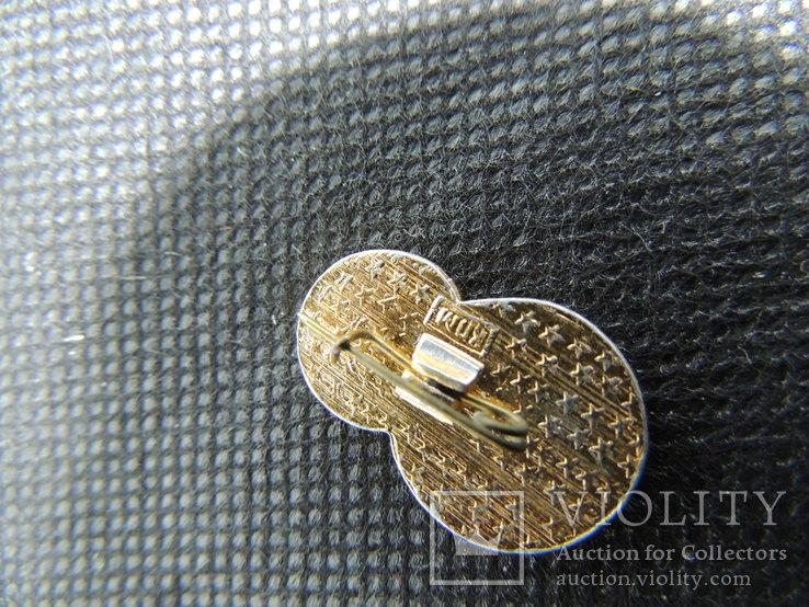 Юный стрелок мишень прицел знак значок СССР эмаль алюминий булавка, фото №4