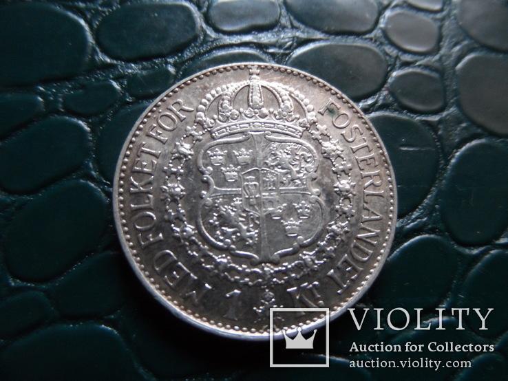 1 крона 1938 Швеция  серебро     (Э.10.1)~, фото №2