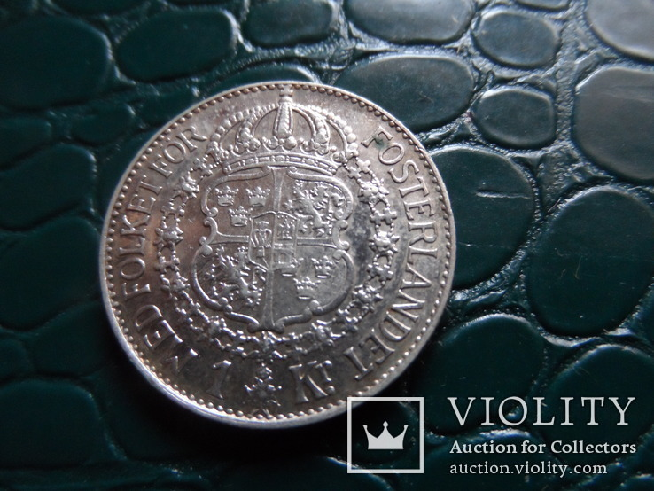 1 крона 1938 Швеция  серебро     (Э.10.1)~, фото №3