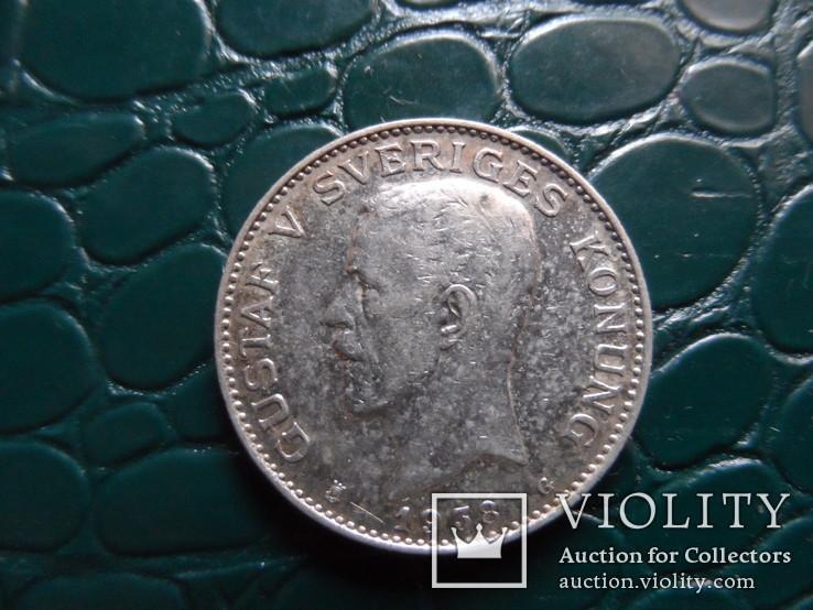 1 крона 1938 Швеция  серебро     (Э.10.1)~, фото №4