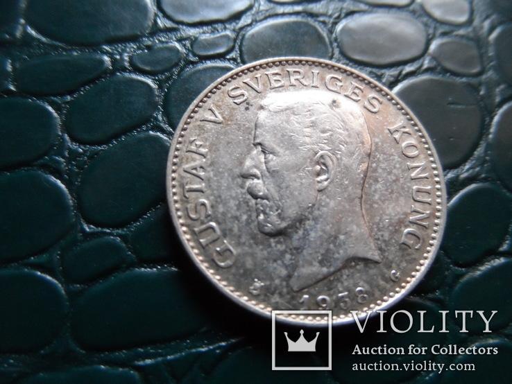 1 крона 1938 Швеция  серебро     (Э.10.1)~, фото №5