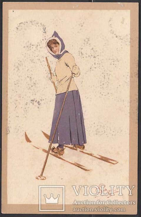 Комплект из  2-х открыток Зимние забавы, фото №5