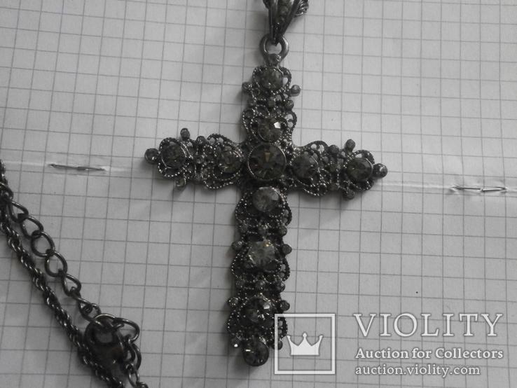 Крестик с камушками, фото №3