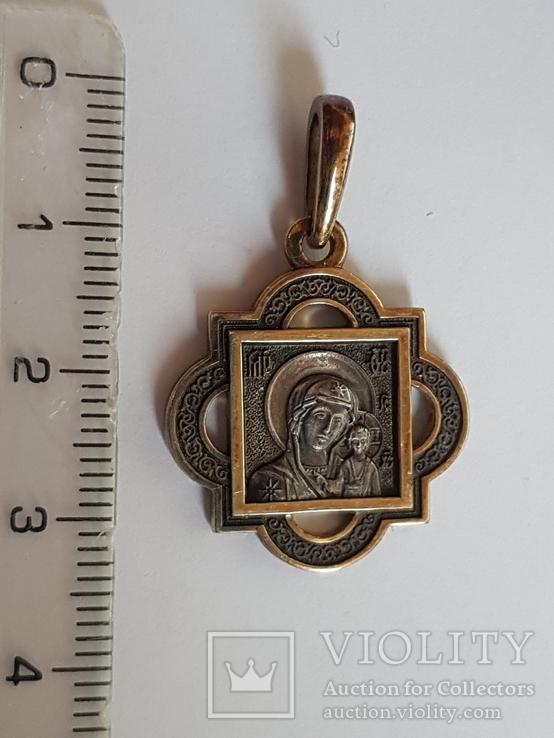 Нательная иконка. Серебро 925 проба., фото №2