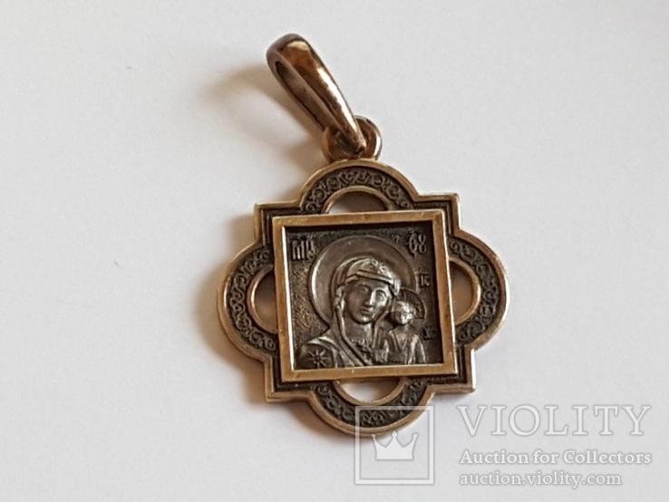 Нательная иконка. Серебро 925 проба., фото №4