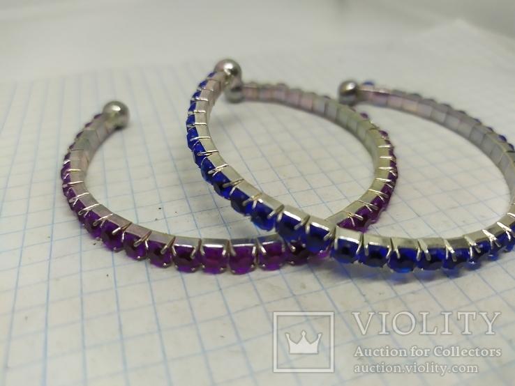 Пара браслетов с синими и фиолетовыми вставками (2), фото №6