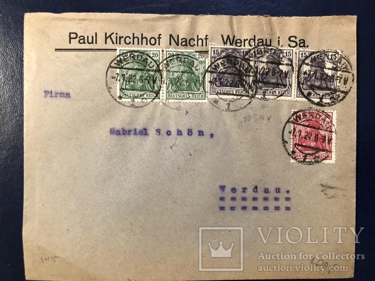 Марки на конверте Германии, фото №2