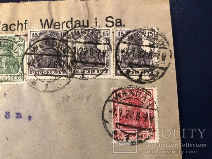 Марки на конверте Германии, фото №3