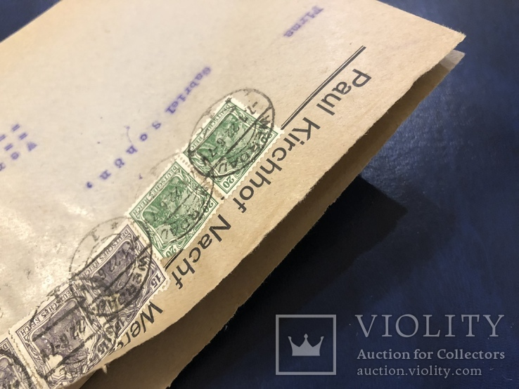 Марки на конверте Германии, фото №6