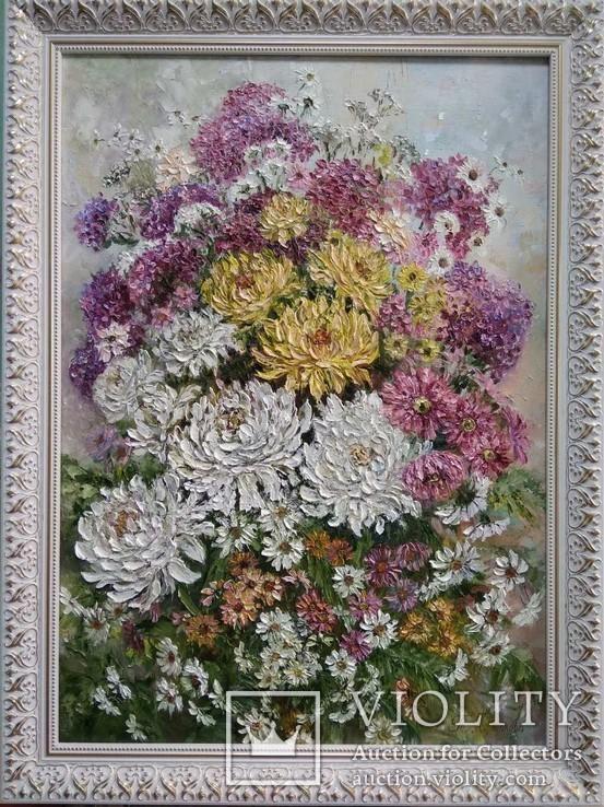 Картина натюрморт Осенняя феерия Короткова Т.Г. 50х70см холст, масло