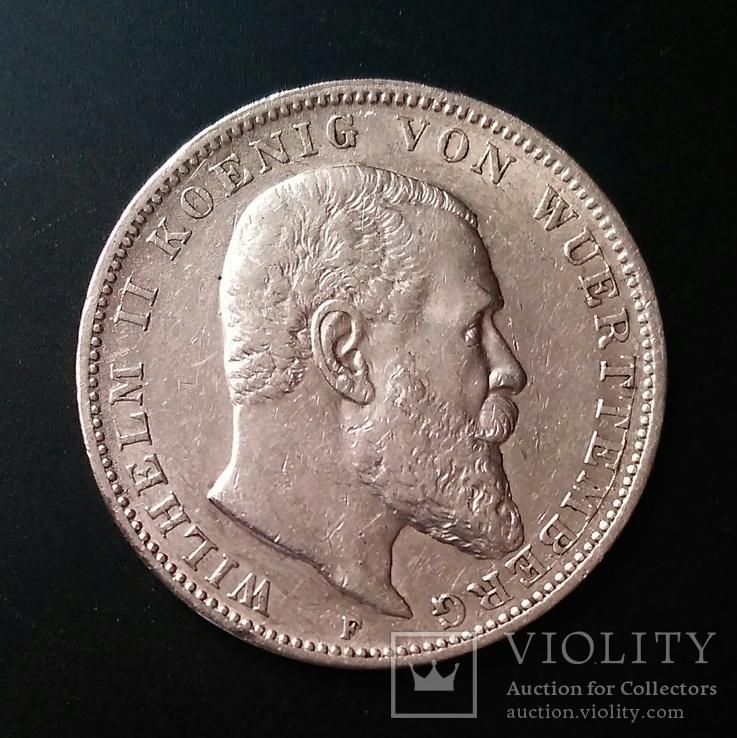 Вюртемберг. 3 марки 1909 р. Вільгельм ІІ, фото №2