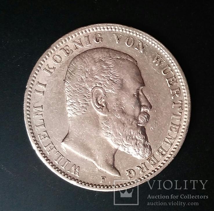Вюртемберг. 3 марки 1909 р. Вільгельм ІІ, фото №3