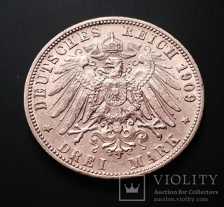 Вюртемберг. 3 марки 1909 р. Вільгельм ІІ, фото №7