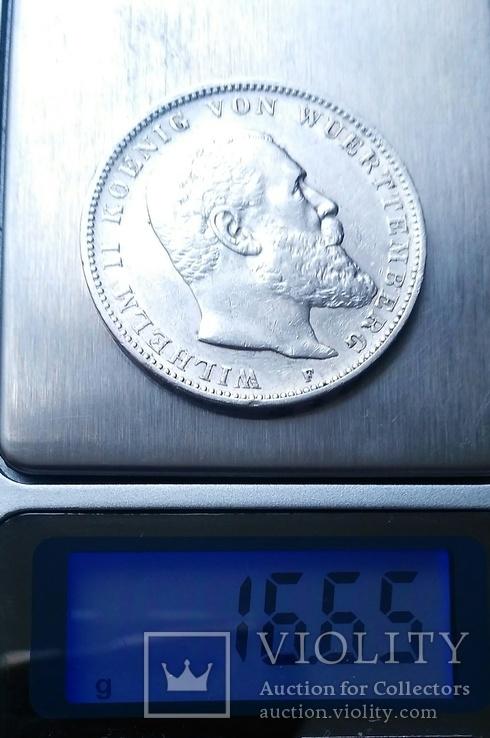 Вюртемберг. 3 марки 1909 р. Вільгельм ІІ, фото №10