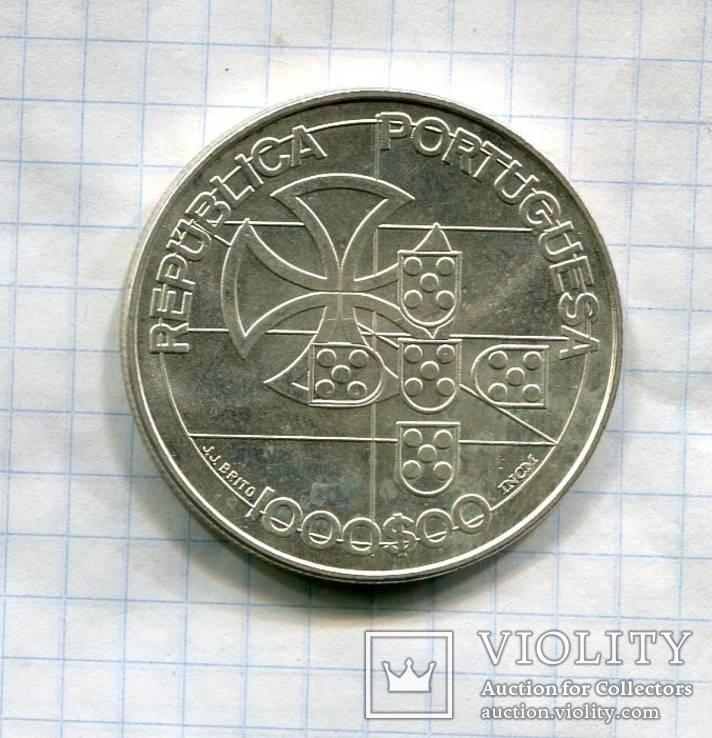 Португалия 1000 эскудо 1998 aUNC серебро, фото №2