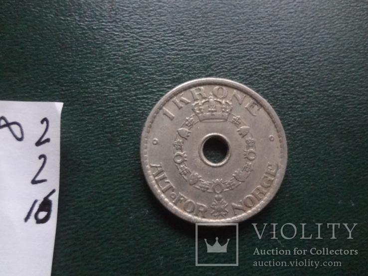 1  крона 1949  Норвегия   (2.2.16)~, фото №5