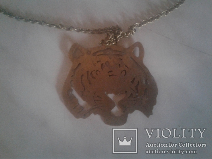 Медальон и цепочка латунь, фото №2