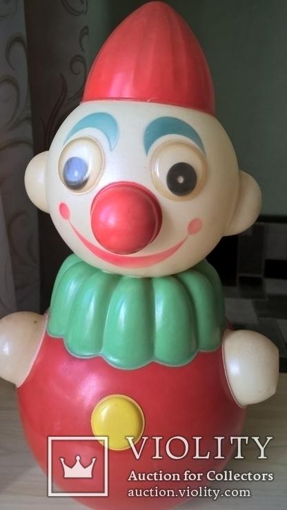 Неваляшка Клоун Детская игрушка Целлулоид СССР, фото №3