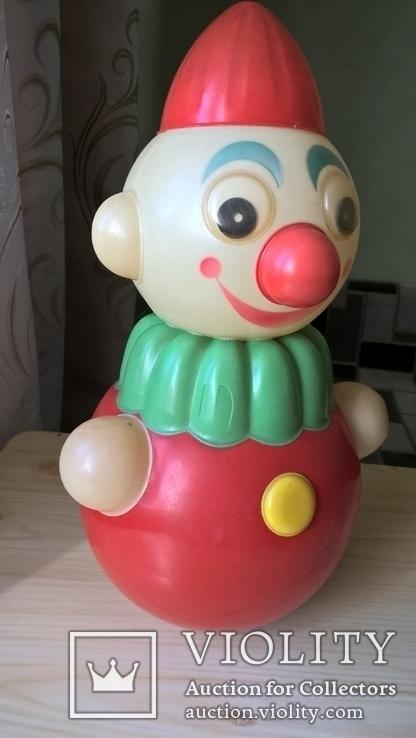 Неваляшка Клоун Детская игрушка Целлулоид СССР, фото №6